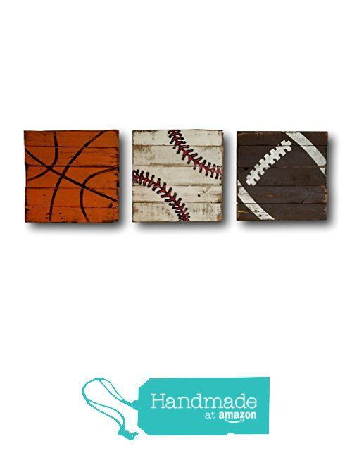 Set of Three Sports Signs / Baseball Sign / Vintage Wood Sports Sign / Boys Bedroom Decor / Vintage Sports Decor from Pallets and Paint http://www.amazon.com/dp/B01B8K789Q/ref=hnd_sw_r_pi_dp_imMSwb0B0EP46 #handmadeatamazon