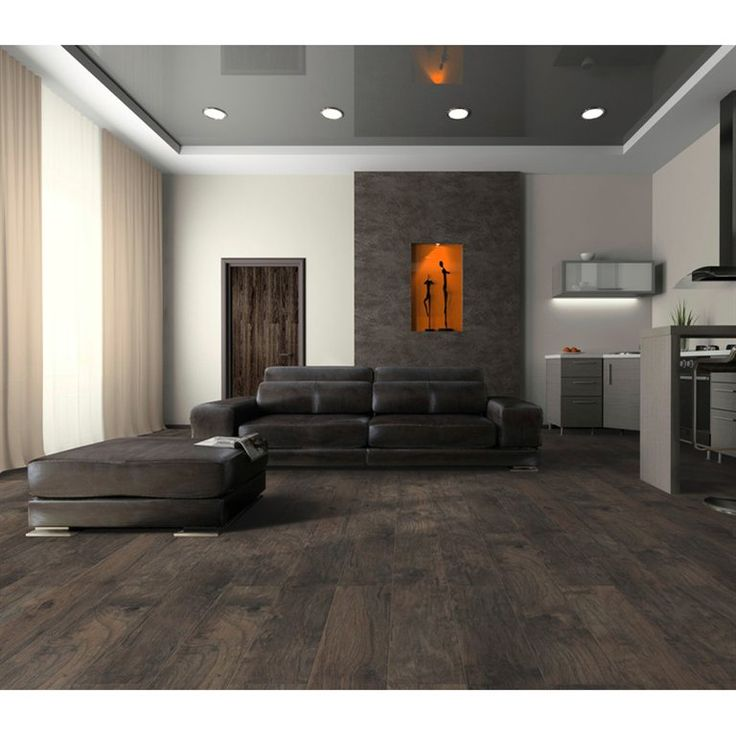 Light and Dark Wood Laminate Flooring Pic, This European 12mm laminate offers a grey color and its
