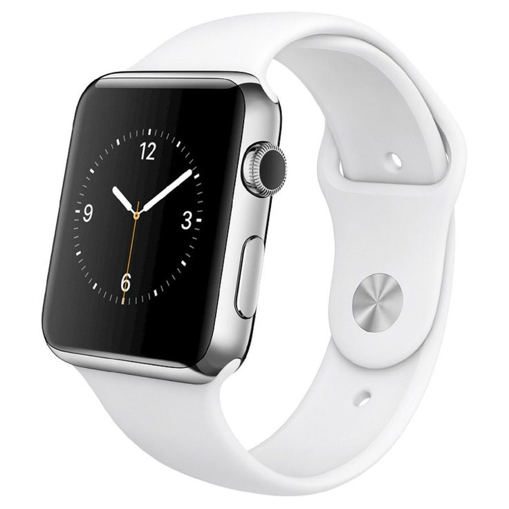 Apple Watch 1st Generation 42mm Stainless Steel Case with White Sport Band
