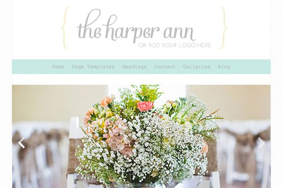 Check out The Harper Ann- Responsive Wordpress by angiemakeswebsites on Creative Market