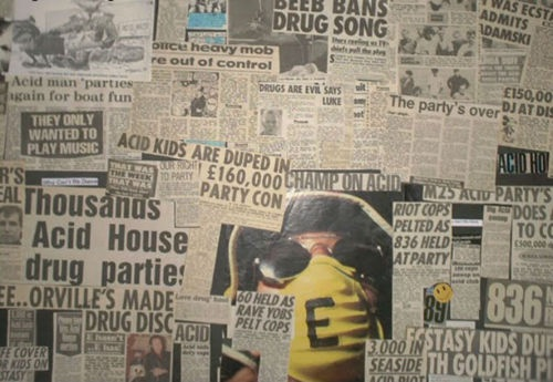poster wall acid house