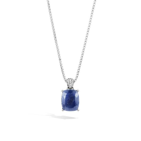 John Hardy Bamboo Gemstone Pendant Necklace, Blue