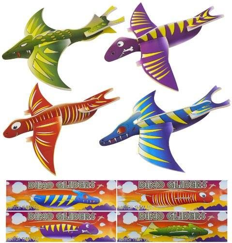 """DINOSAUR GLIDERS Love this take on the classic plane """"glider toy"""". These dinosaur versions are SO COOL. Great for the kids to play with this Summer."""