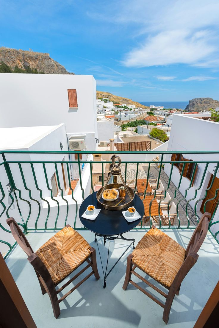 Balcony Luxury Villa Eftihia in the heart of Lindos