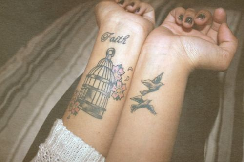 I've always wanted a birdcage tattoo.