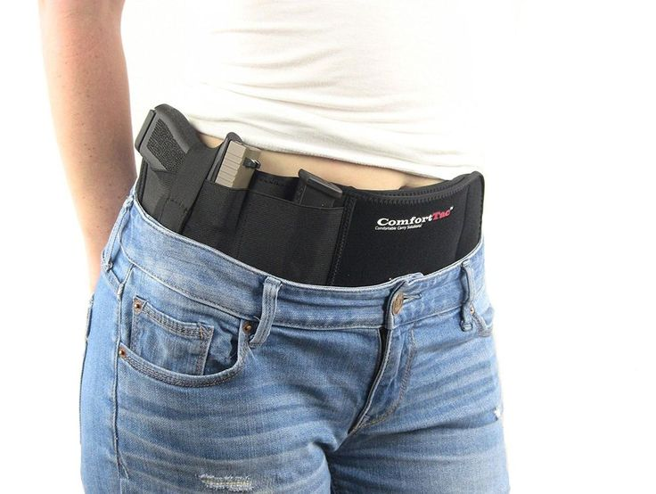 Ultimate Belly Band Holster for Concealed Carry Right Hand Magazine Clip Rounds. #ComfortTac