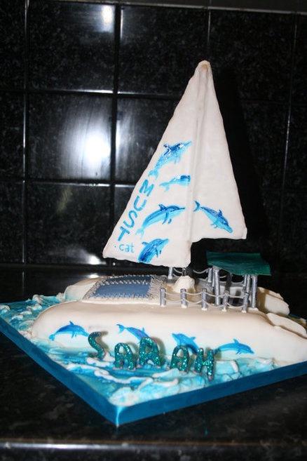 Catamaran  Cake by TheCakeArtisan