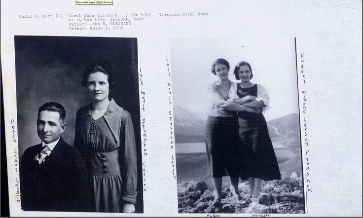 Peter LeRoy Larsen, Wife Lulu Merle Stratton and My Grandmother Audrey Winona Larsen Frodsham
