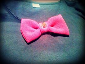 handmade shirt/ tiebow