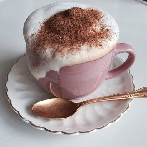 Although coffee in my house is not this fancy...