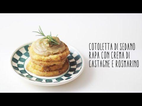 Cotolette vegane al sedano rapa con crema di castagne