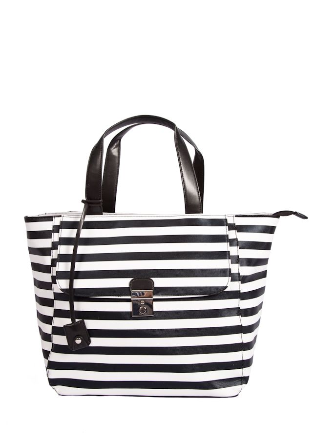INZI BY HIGH FASHION HANDBAGS Striped Tote. Discount ...