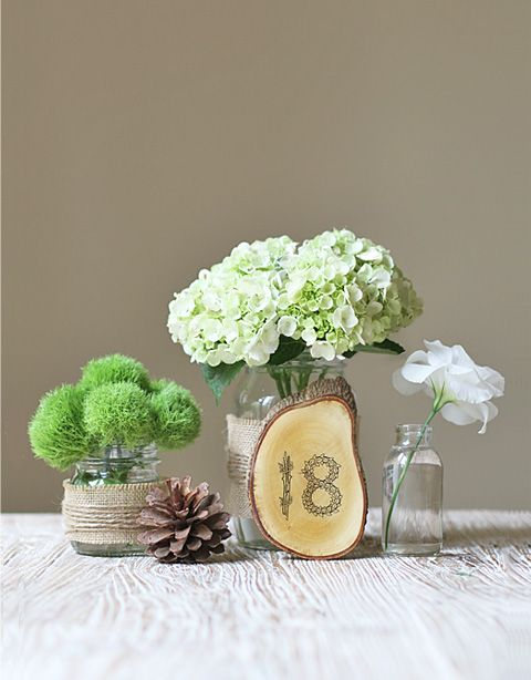 flowery wood numbers tutorial: Wedding Tables, Simple Centerpiece, Wedding Ideas, Weddings, Centerpieces, Table Numbers, Rustic, Flower