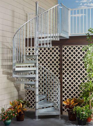 Best Trex® Spiral Stairs™ In 2019 Spiral Staircase Spiral 400 x 300