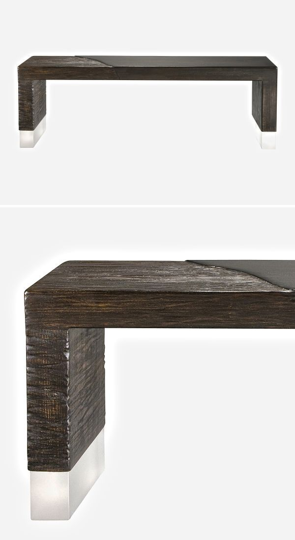 Benches Ottomans Alluvium Bench Industrial Style Coffee