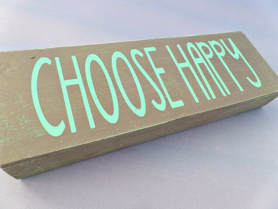 Choose Happy Sign, Boho Room Decor, Apartment Decor, Teen Room Decor, Inspirational Wood Signs, Cute Office Decor, Gift Ideas $18.99