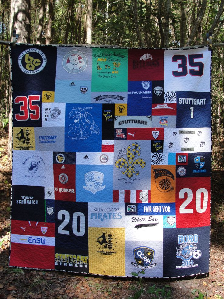 Soccer Tshirt Quilt Using Too Cool Method My Quilts