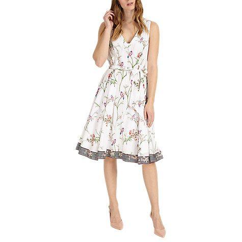 Buy Phase Eight Hummingbird Print Cotton Dress, Multi Online at johnlewis.com
