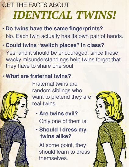 Get The Facts About Identical Twins