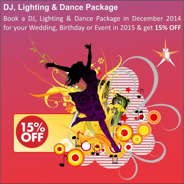 DJ, Lighting & Dance Package - 15% OFF