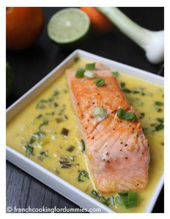 Wasabi and lime salmon recipe
