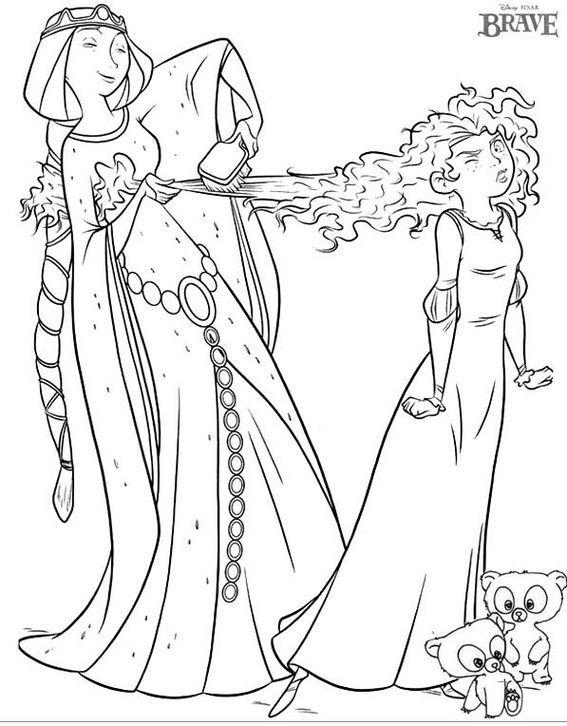 Pin By Babette Gordon On Disney Brave Coloring Pages Princess Coloring Pages Disney Princess Coloring Pages Cartoon Coloring Pages