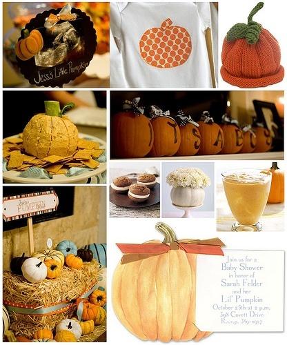 fall baby shower-lil pumpkin theme