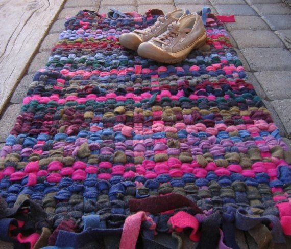 Sweater Rug Could Be Woven Or Knitted