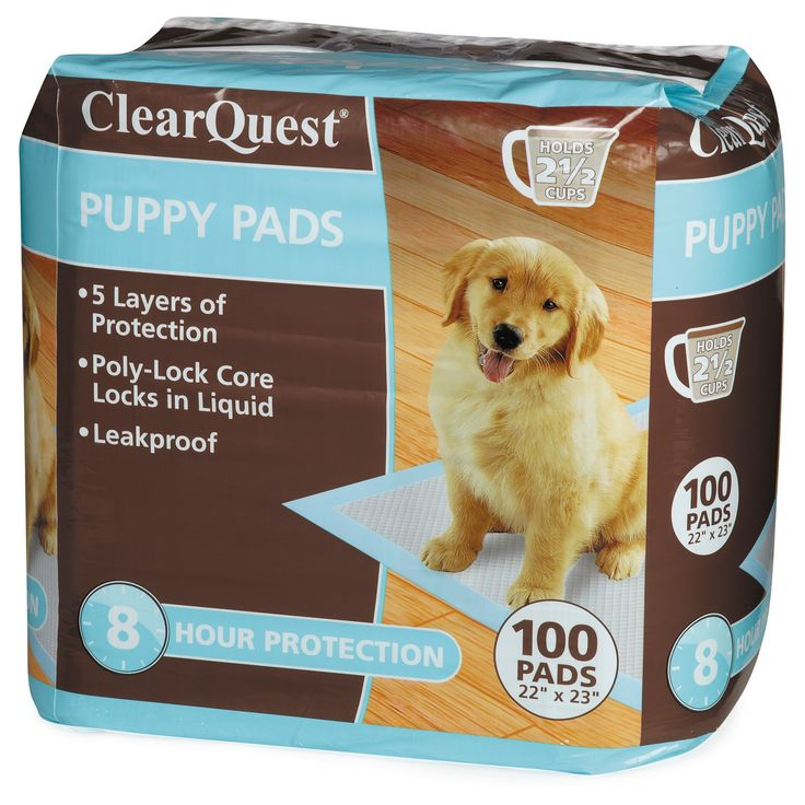 ClearQuest Puppy Pads 100ct Bag, White