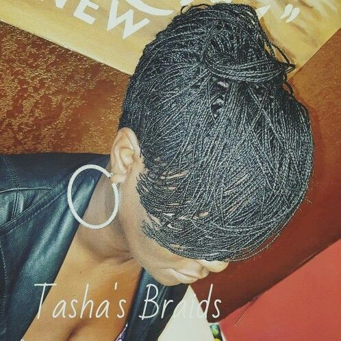 Tasha's Braids ~ Cropped Tapered Bobplaits, keep it short, sexy and cool. Next level braids not your average braider