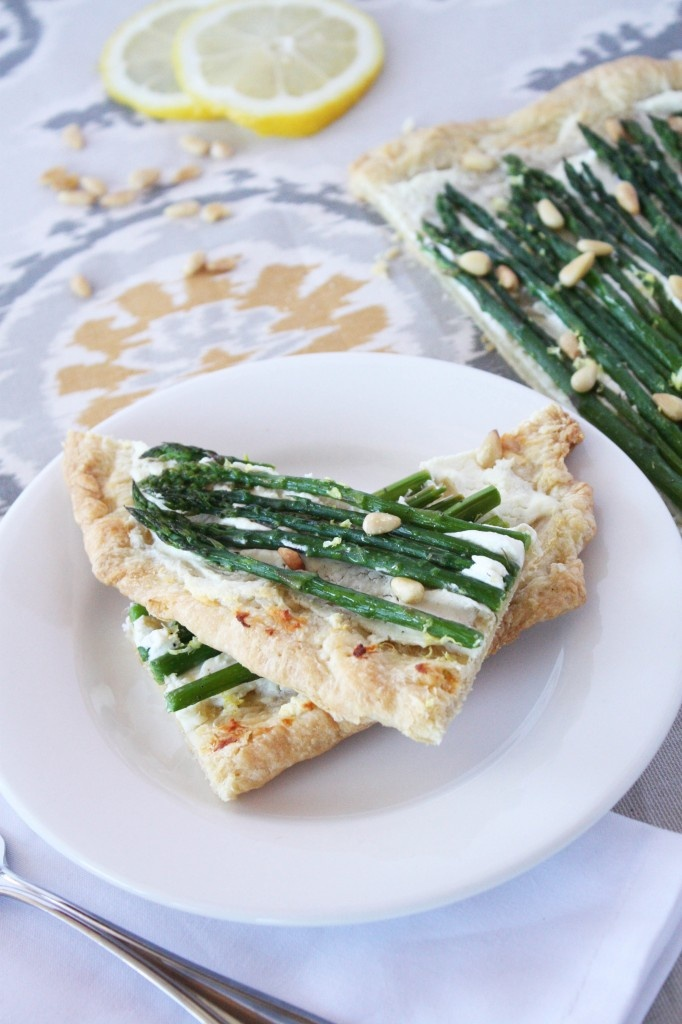 Asparagus Goat Cheese Tart- try as pasta, too