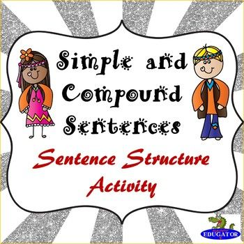 Sentence Structure Activity. Simple sentences and compound sentences. Students will answer questions about phrases, clauses, and sentences, discuss answers, fill out a KWL chart, write a plot diagram and a story about an animal hero, analyze the sentences in their story.