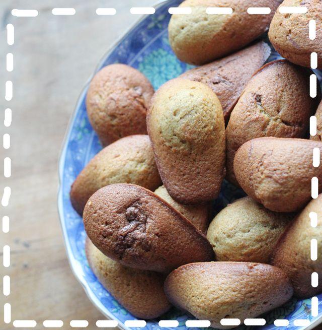 Recette de madeleines bio fourrées à la pâte à tartiner aux noisettes