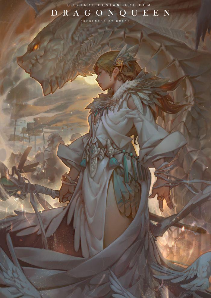 Dragon Queen Krenz Cushart http://www.hilightart.com/magazine_view/544dad75df345