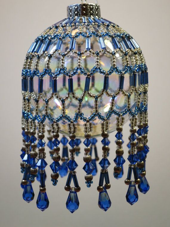 98. Beaded Ornament Cover by BeadingWolves on Etsy