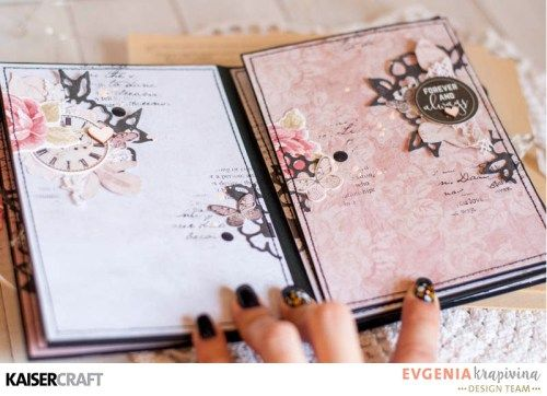 'PS. I Love You' Mini Album c) by Evgenia Krapivina Design Team for Kaisercraft using their 'P.S. I Love You' collection. saved from kaisercraft.com.au - Wendy Schultz - Mini Albums.