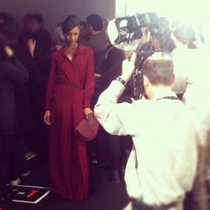 Backstage at London Fashion Week 2012 #lfw