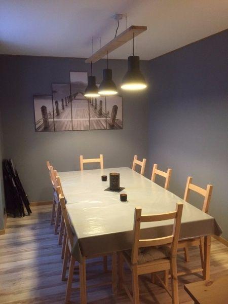 Lustre bois et métal par Lumi - Petite création très basique du samedi pour faire un lustre dans notre salle à manger.