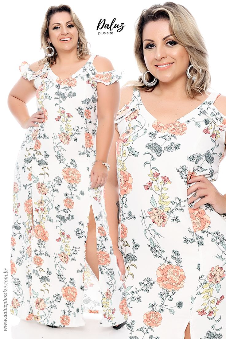 Vestido Floral Plus Size - Coleção Alto Verão 2018 -  www.daluzplussize.com.br
