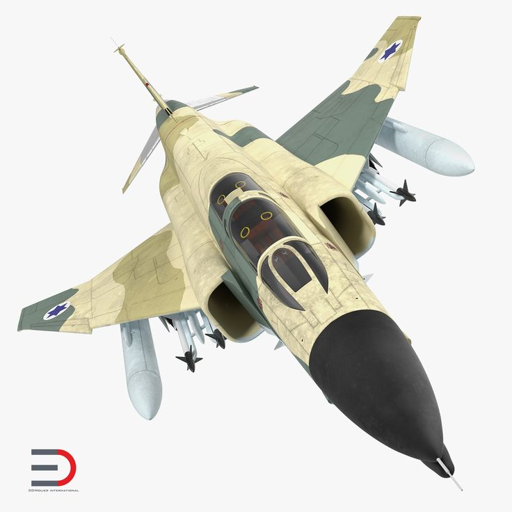 F-4E Kurnass 3d model, Israeli Air Force Rigged