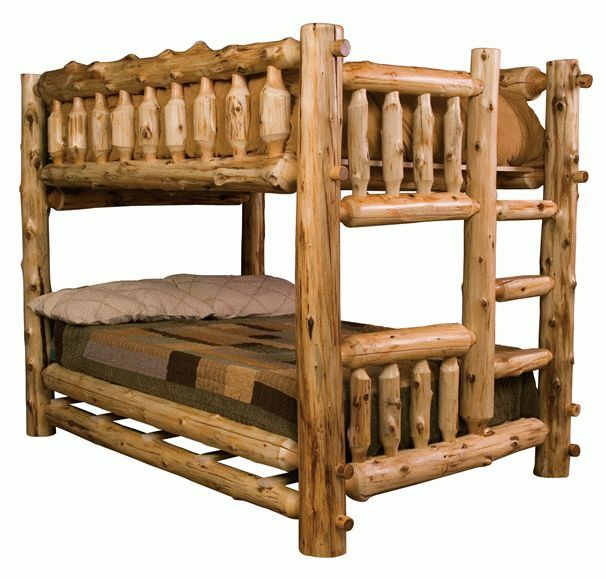 25 best ideas about log bed frame on pinterest log bed for Diy rustic bunk beds