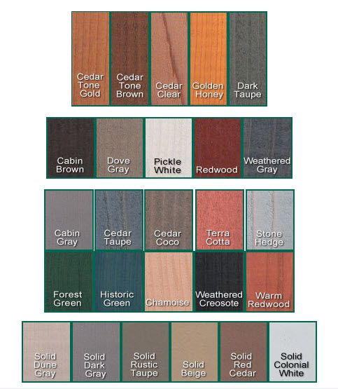 Log Home stains: I like the Cedar Tones the best  -  http://www.westernloghomesupply.com/x-100-natural-seal-deck-stain.html