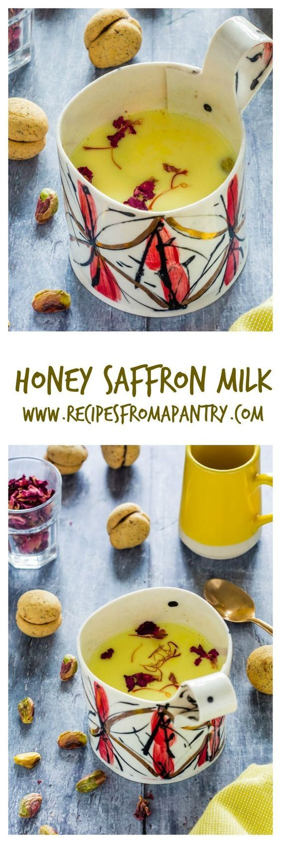 Beat the cold with this fragrant and warming *honey saffron milk*. | Recipes From A Pantry via @recipespantry