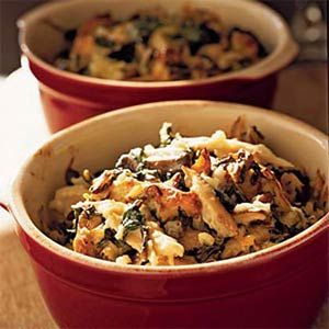 Chicken and Rice Casserole with Spinach and Shiitakes | MyRecipes.com