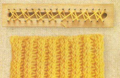loom knitting diagrams Loom Stitches Pinterest