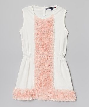 Look what I found on #zulily! Millions of Colors Soft White Party Dress - Girls by Millions of Colors #zulilyfinds