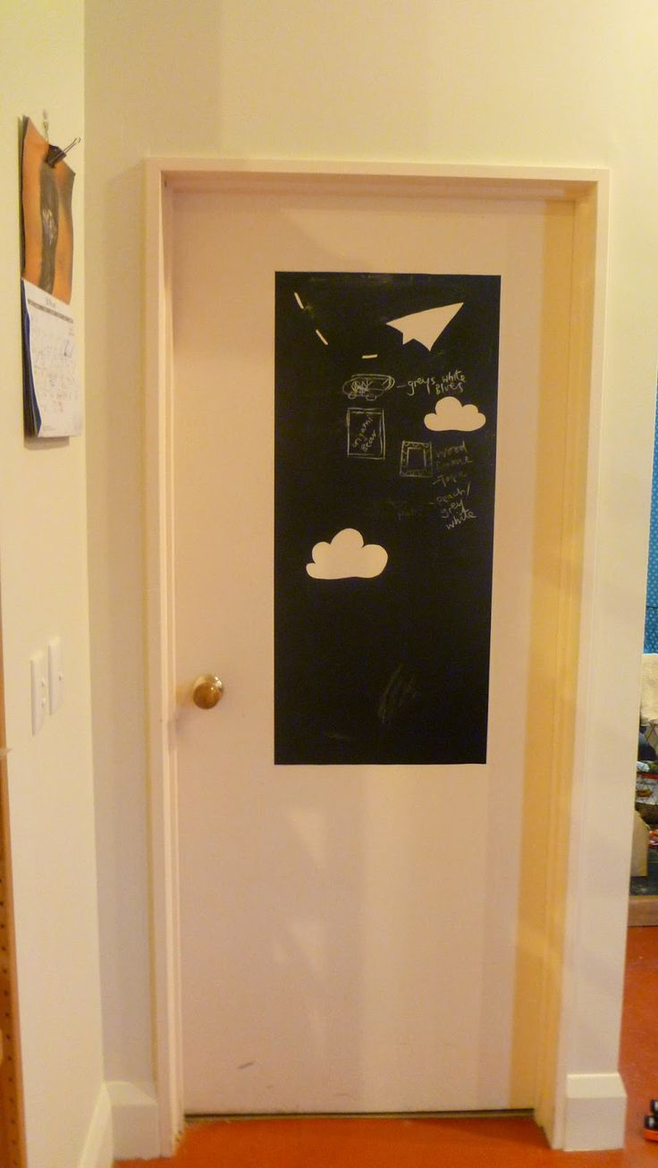 chalkboard wall decal + cut shapes out with craft knife @ genesisfound.blogspot.co.nz
