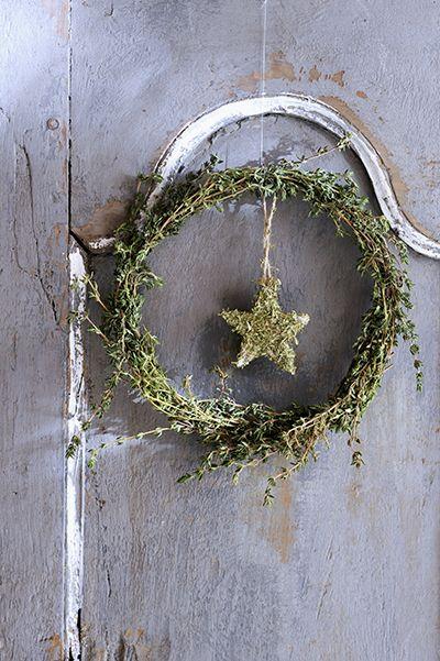 zelfmaken kerst krans tijm