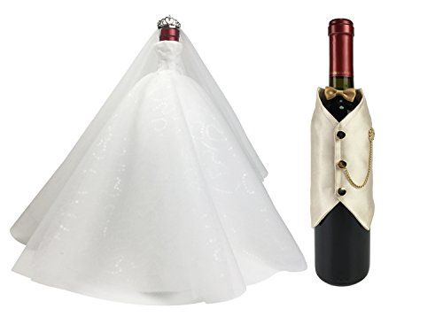 Wine Gifts Set,Bride and Groom Wine Bottle Covers, Wine T... https://www.amazon.com/dp/B01C8QIMDK/ref=cm_sw_r_pi_dp_x_KXUOxbKW5Y2ZR