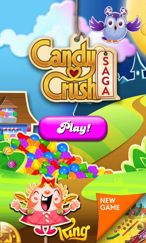 Kings Candy Crush Saga, Splash Screen, #Welcome Screen #Game Art #UI Art